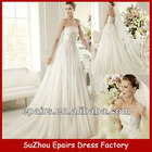 WND06 Strapless Lace Tulle Fashion Style Bridal Wedding Dress