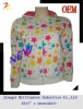 new design stylish popular knitted printed polar fleece girls fashion sweat shirt