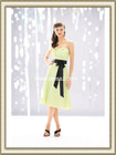 Knee Length Chiffon Pleated A-line Strapless Wedding Dresses Gowns with Bow