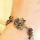 metal flower bracelet paracord bracelet