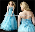 2012 New Designs Elegant Strapless Plus Size Ball Gown QNPD12107-14