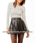 Latest Style Open Back Polka Dot Women Tops