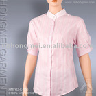 fashionable short sleeve ladies' shirt