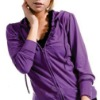 new style purple lady's fitness jacket