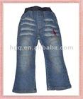 65% cotton 35% terylene blue boys jeans pants