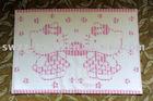 embroidered bath mat