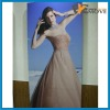 Beautiful girl photo printing on wood