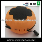 mini hamburger speaker with built-in lithium battery,USB slot for mp3mp4 player
