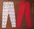 cotton print girls long legging set of 2 piece