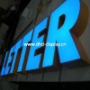 Acrylics and stainless steel frontlit light up letters