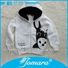 White animal pattern children cute korean jacket hoodie