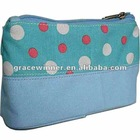canvas cosmetic bag/make up bag
