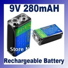 NiMh 280 mAh 9V Rechargeable Battery