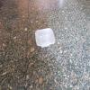 Square glass soap dish