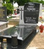 Poland style granite headstone