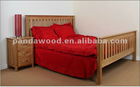 3' Solid Oak Wood Bed
