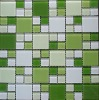Bathroom/kitchen mosaic decorations,crystal clear glass mosaic