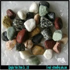 mixed color garden river pebble