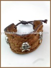 HAND-MADE SKULL STUDDED PUNK BRACELET