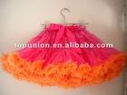 chiffon hot pink/orange pettiskirt for the princess