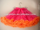 chiffon hot pink/orange pettiskirt for the princess