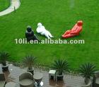 Fiberglass cartoon people sitting and lying statue