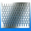 Perforated stainless steel sheet (factory)