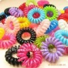 Elasticity colourful webbing girl hair loop