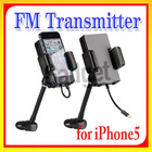 Hot sale !! FM Hands-Free Car Kit & iPod FM Transmitter Car Charger Remote Control for iPhone 5