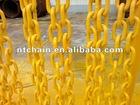 yellow painted g80 lashing fishing long link chain