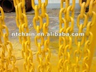 yellow painted g80 lashing fishing long link chain