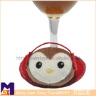 hot selling cute monkey Christmas cup mat/ Bar Christmas decorations