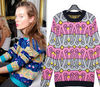 Designer ladies knitwear fashion prints
