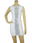 2012 new design ladies brand bandage dress in yellow color