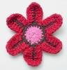 Handmade crochet flower