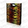 Tote leopard print fashion non woven lamination bag