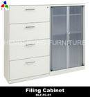 Wooden Office Filing Cabinet In White Color