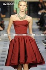 AZB008 Short A-Line Bridesmaid Gown 2012