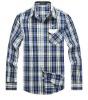 Men's Casual Plaids Long Sleeve Cotton Shirt