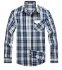 Men's Casual Plaids Long Sleeve Cotton Shirt