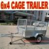 Galvanized Cage Trailer 6 x 4 Cage Trailer