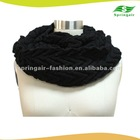 100%cashmere ladies fringe knitted cable scarf