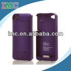 Purple Back up External Power Bank Case for iPhone 4 4s 1900mAh(IMC-CDIPH-1719)