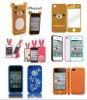 Many style silicone phone case with different shape and logo customized