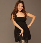 2011 black chiffon casual dress FY8643