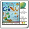 OCEAN SHELL NEW ARRIVAL PUFFY PHOTO STICKERS