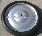 Solid rubber steel rim wheels wheelbarrow wheel industrial 16 inch wheel