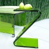 Brillant Acrylic z shape end table