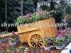 Biodegradable flower pot for garden,park/wood handle water pot/handle wood pot/Flowerpot-12