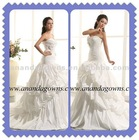 2013 Exclusive design sweetheart neckline taffeta wedding dress with flowers
